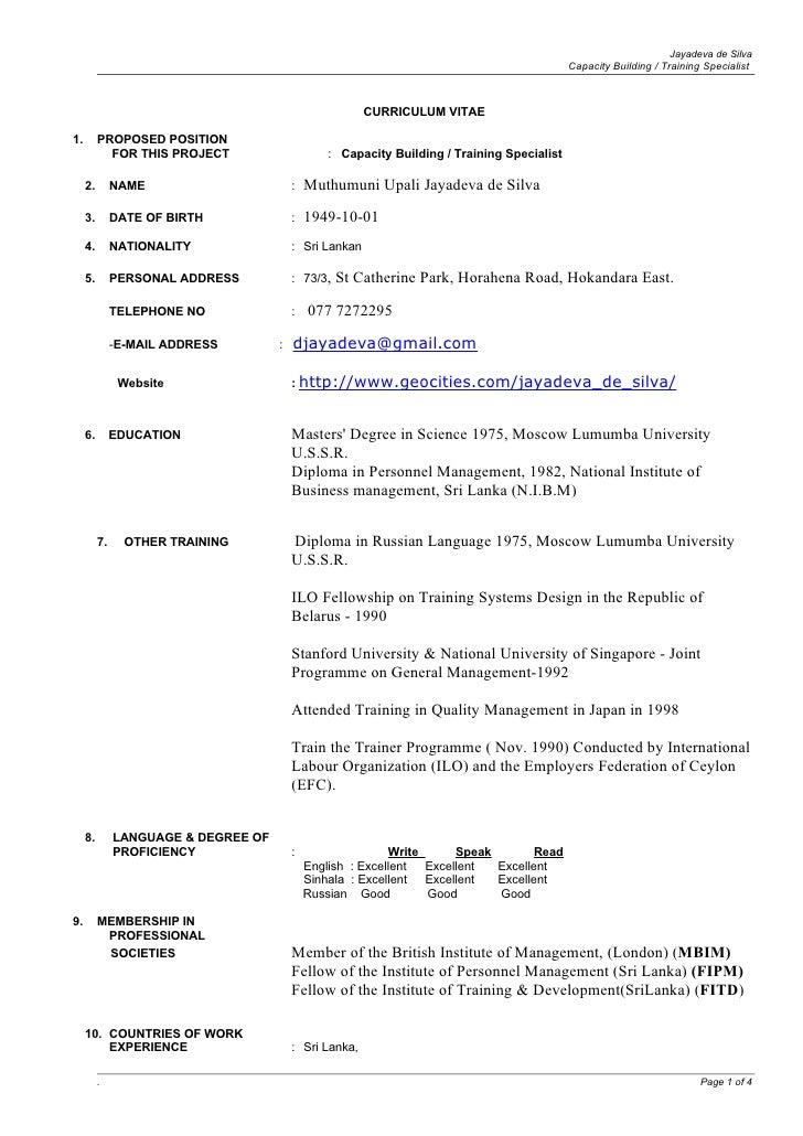 Jayadeva de Silva                                                                                               Capacity B...