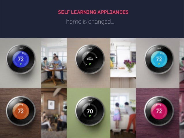 home is changed... SELF LEARNING APPLIANCES