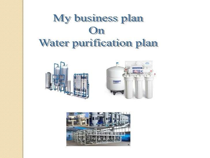 Water filter business plan