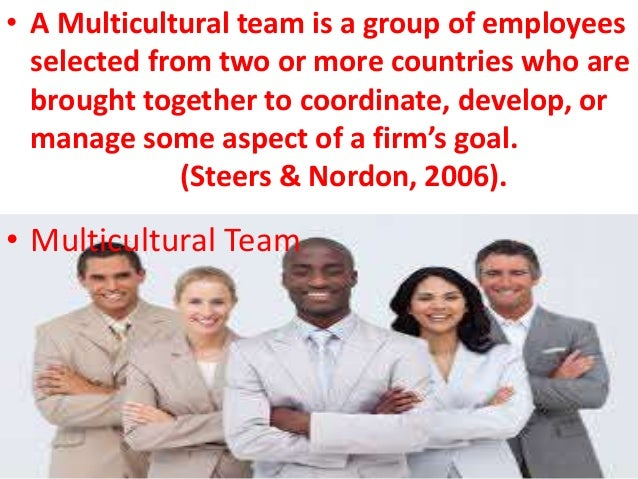 challenges in managing multicultural team You decide to prepare a training handout for the next managers' meeting, that emphasizes the following points:challenges of managing a multi-cultural team.