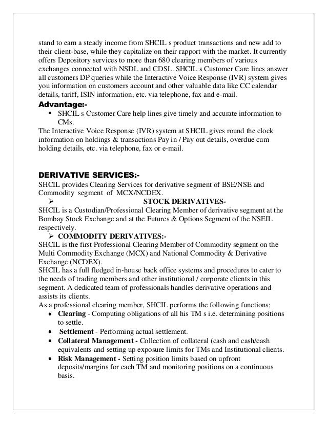 summer internship project in shcil Prevent unauthorized transactions in your demat account -- update your mobile number in your demat account receive alerts on your registered mobile for all debit and other important transactions in your demat account directly from nsdl/cdsl on the same dayissued in the interest of investors.
