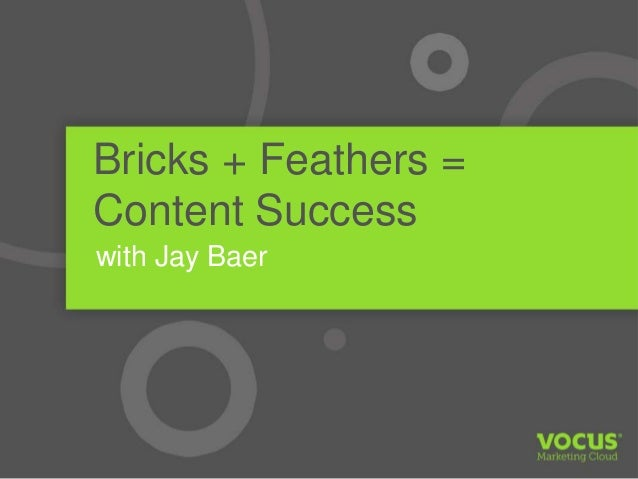 Bricks + Feathers = Content Success with Jay Baer