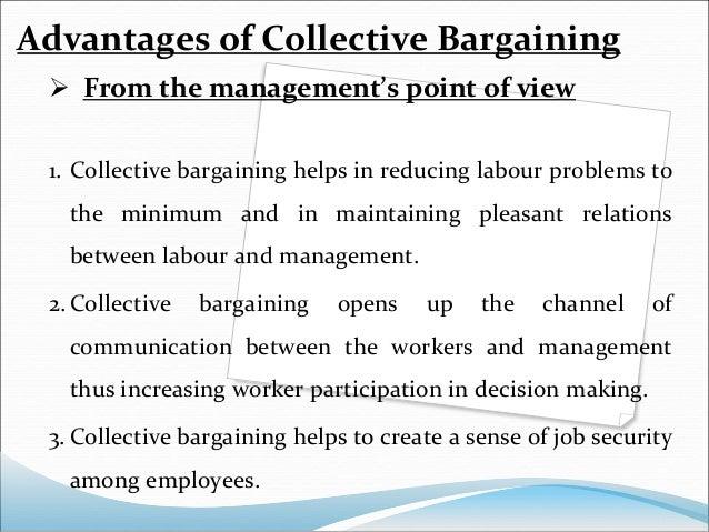 advantages of collective bargaining pdf