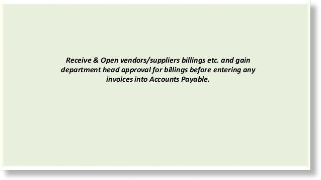 Accounts Payable Duties and Responsibilities: Jay Corson Porter Ranch
