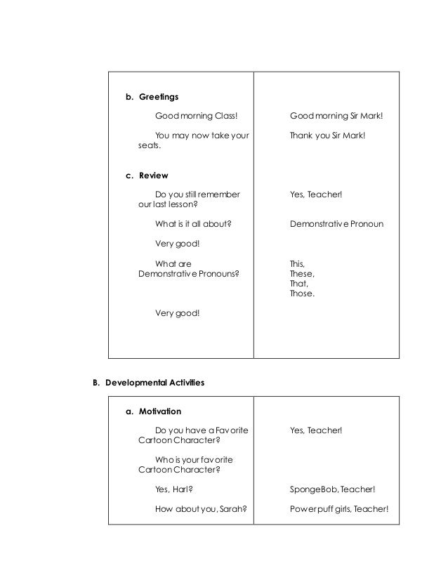 Detailed lesson plan in english 2 verbs 2 b greetings m4hsunfo Image collections