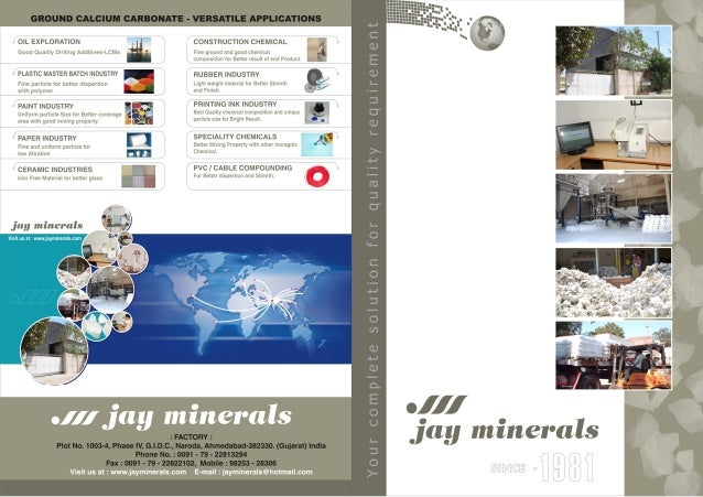 Industrial Minerals By  Jay Minerals
