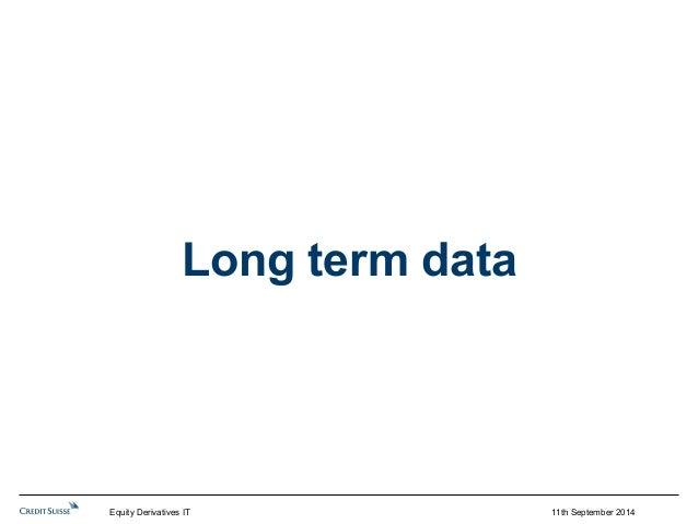 11th September 2014  Long term data  Equity Derivatives IT