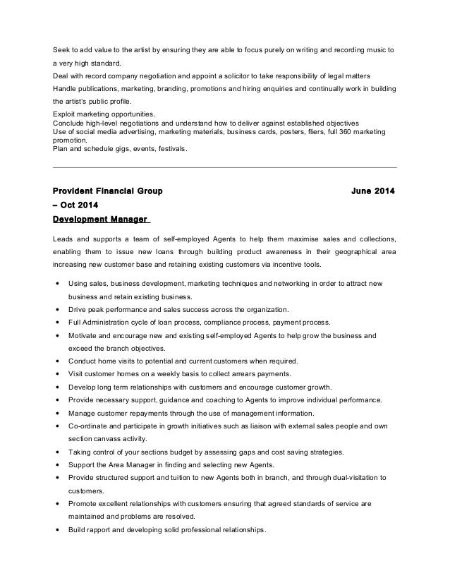 100 trainee manager resume sales management