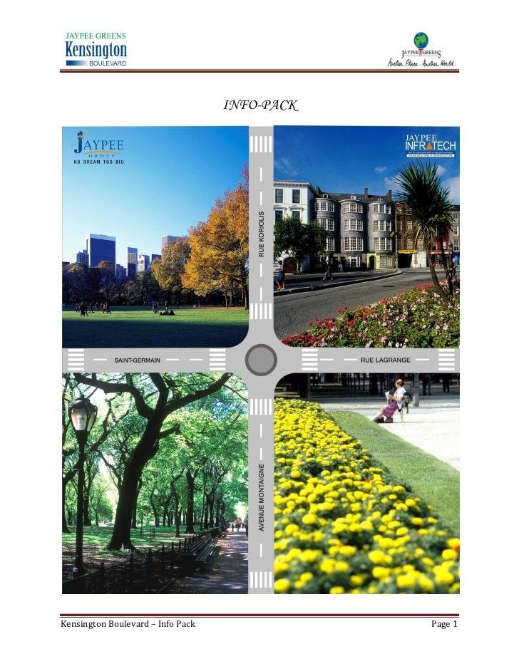 INFO-PACK     Kensington Boulevard – Info Pack               Page 1
