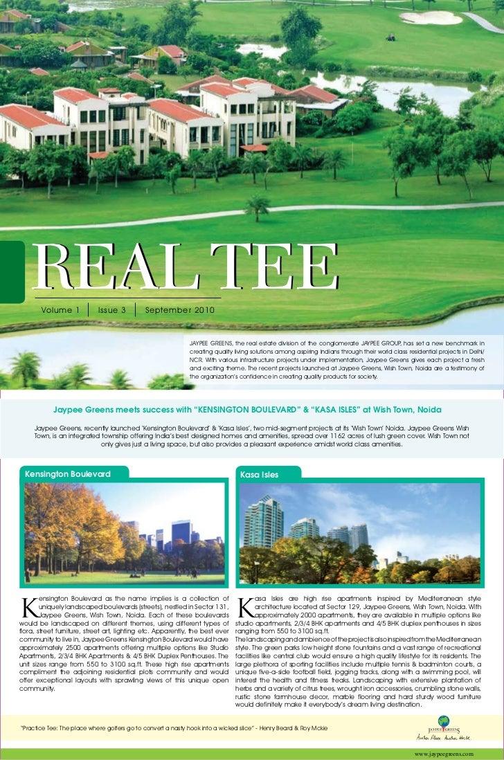 01   REAL TEE        Volume 1            Issue 3          September 2010                                                  ...