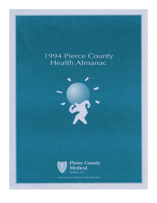 (JayRay) 1994 Pierce County Health Almanac