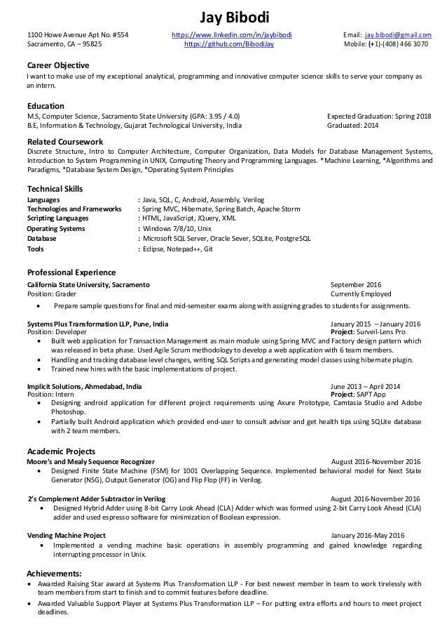 Jay resume