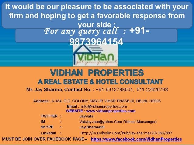 VIDHAN PROPERTIES BUSINESS PROFILE