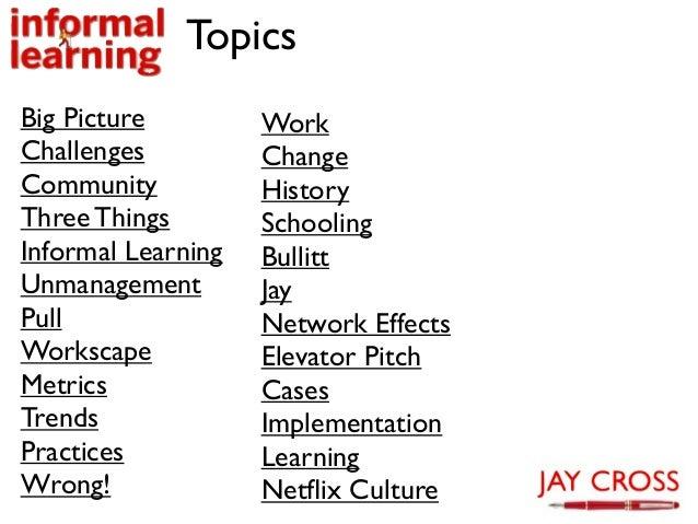 Jay's informal learning research deck Slide 2