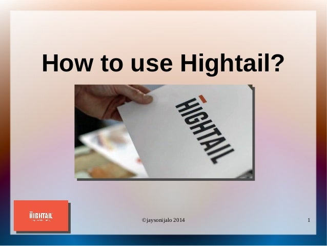 How To Use Hightail