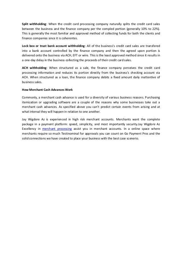 Jay Wigdore | E-Commerce Merchant Accounts  Slide 2