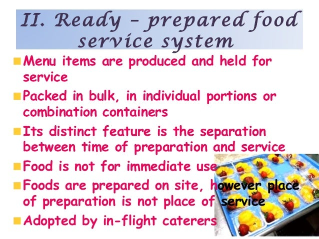 Ready Prepared Food Service Definition