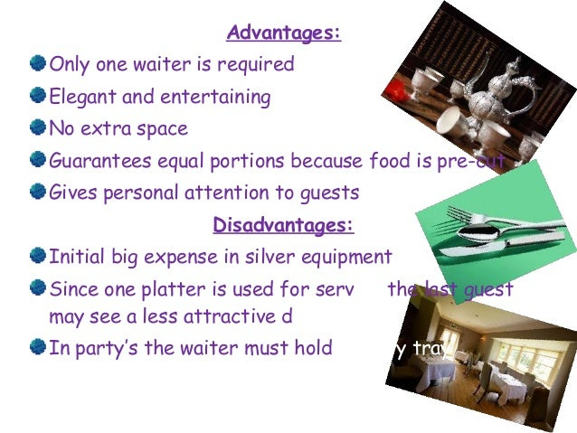 advantages of tray service