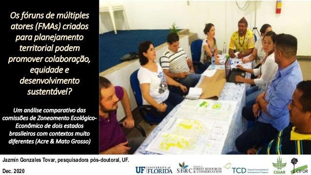 Os fóruns de múltiples atores (FMAs) criados para planejamento territorial podem promover colaboração, equidade e desenvol...
