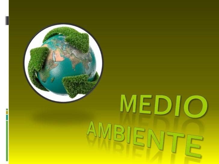 Índice: Que es el MEDIO AMBIENTE? Contaminación del Medio Ambiente El Medio Ambiente y sus recursos Recursos Como ayu...