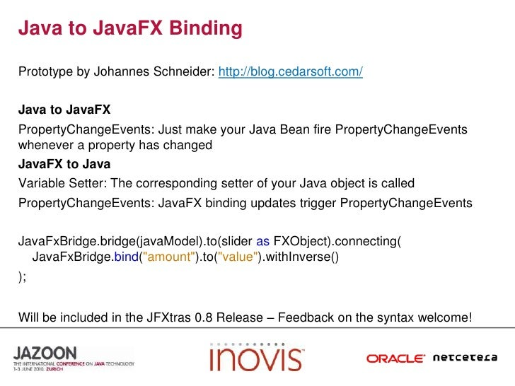 Building Data Rich Interfaces with JavaFX