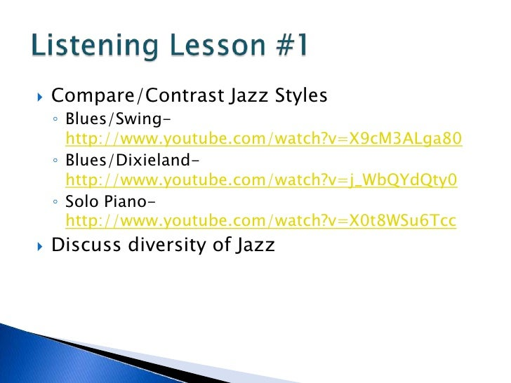 compare and contrast duke ellington 1 jazz from a to z lesson plan template title of the lesson: compare and contrast the four freedoms of fdr and the four freedoms of jazz: duke ellington style.