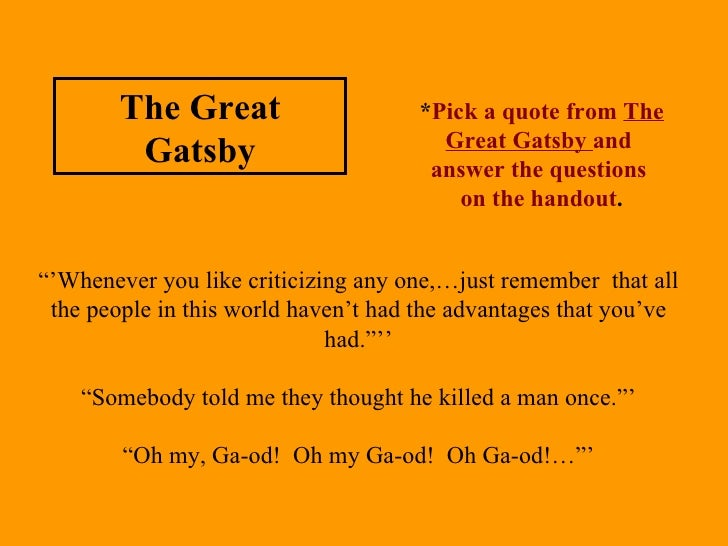 gatsby and modernism essay The great gatsby as a modernist novel the early 20th century saw rapid technological advancement and change that was driven by the demands of the war many.