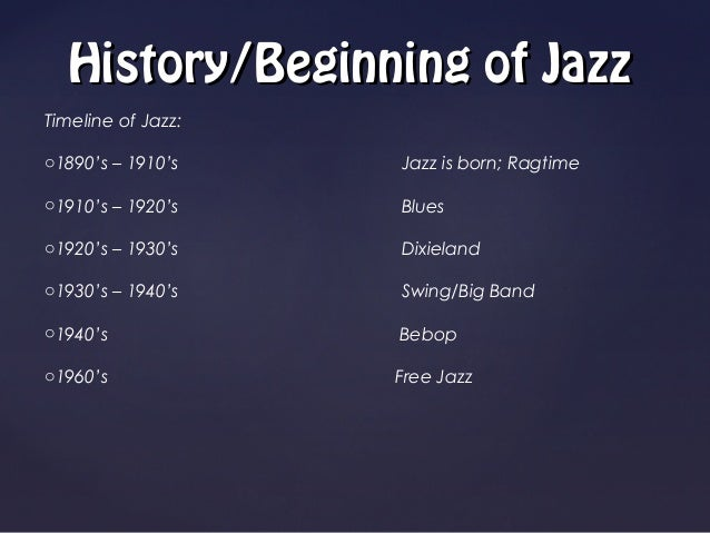 Jazz music ppt toneelgroepblik Choice Image