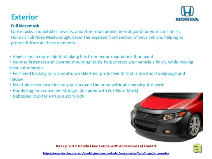 Jazz up 2012 Honda Civic Coupe with Accessories at Everett