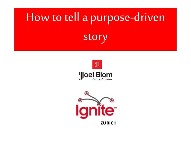 How to tell a purpose-driven story ZÜRICH