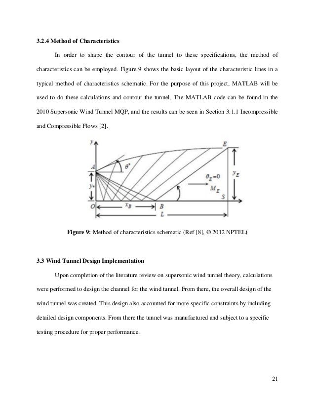 21 3.2.4 Method of Characteristics In order to shape the contour of the tunnel to these specifications, the method of char...