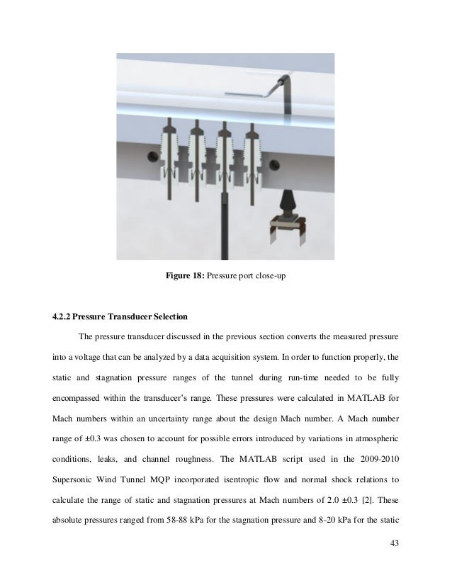 43 Figure 18: Pressure port close-up 4.2.2 Pressure Transducer Selection The pressure transducer discussed in the previous...