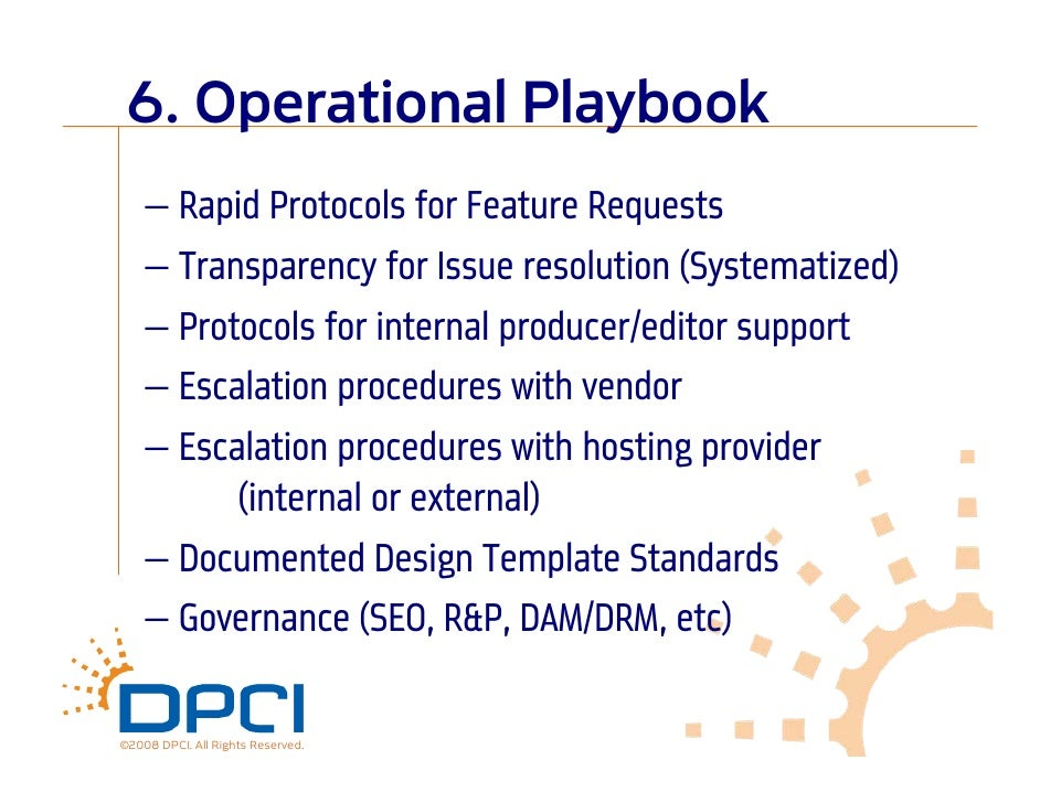 Best project management practices in web content management 19 6 operational playbook pronofoot35fo Choice Image