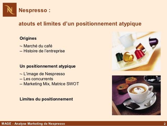 Nespresso Store SWOT Analysis