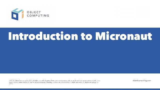 Introduction to Micronaut