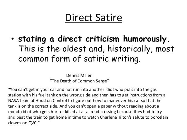 How to write a satire essay