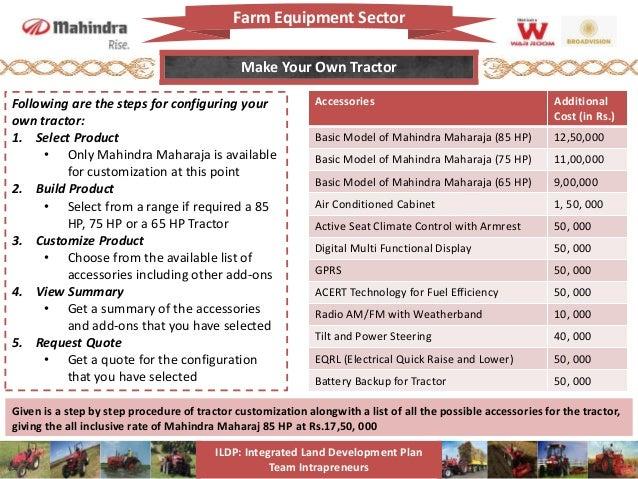 Mahindra Tractors Growth Strategy