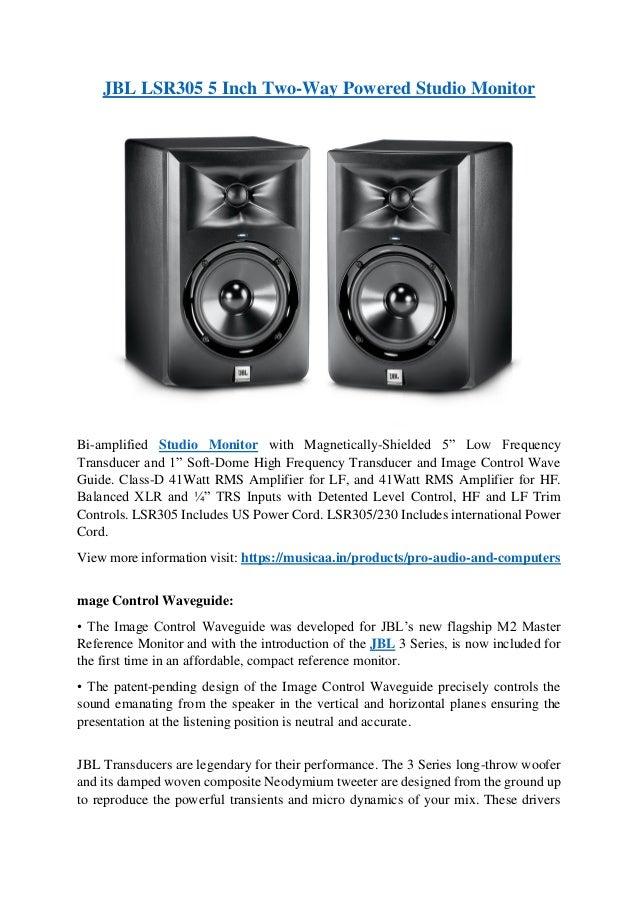 JBL LSR305 5 Inch Two-Way Powered Studio Monitor