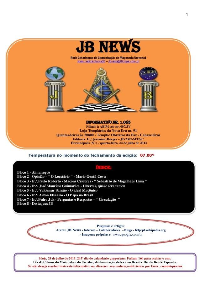 jb news informativo nr 1054
