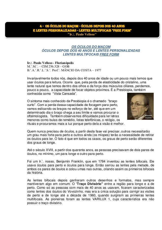 20. OS ÓCULOS DO MAÇOM ÓCULOS DEPOIS DOS 40 ANOS ... caa134a551