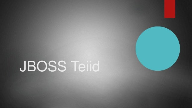 JBOSS Teiid
