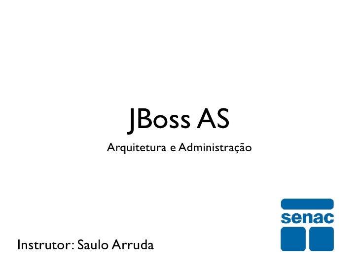 JBoss AS               Arquitetura e AdministraçãoInstrutor: Saulo Arruda