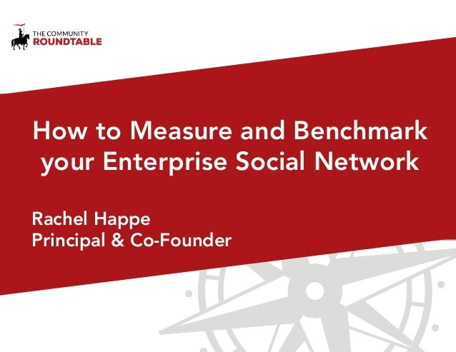 How to Measure and Benchmark your Enterprise Social Network Rachel Happe Principal & Co-Founder