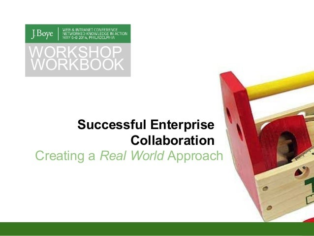 Successful Enterprise Collaboration Creating a Real World Approach WORKSHOP WORKBOOK