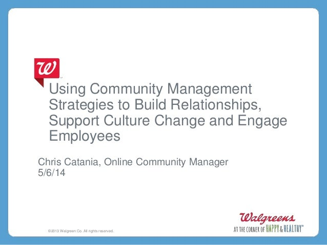 Using Community Management Strategies to Build Relationships, Support Culture Change and Engage Employees Chris Catania, O...