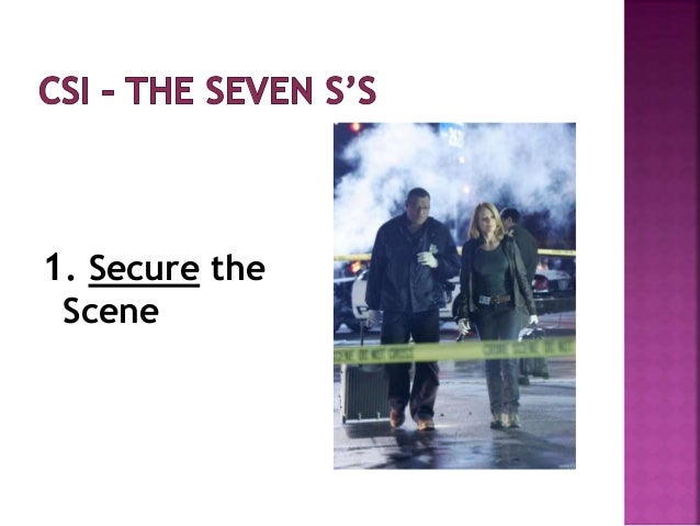 1. Secure the Scene