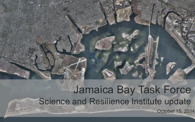 Jamaica Bay Task Force  Science and Resilience Institute update  October 15, 2014