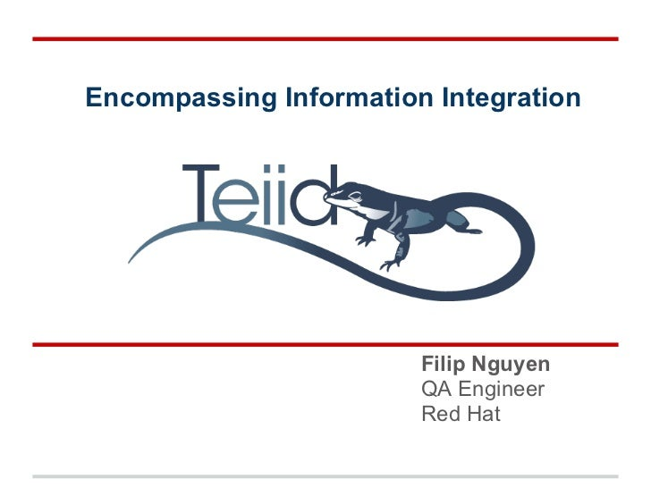 Encompassing Information Integration                        Filip Nguyen                        QA Engineer               ...