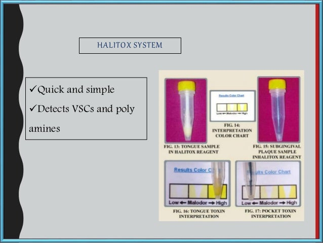 HALITOX SYSTEM Quick and simple Detects VSCs and poly amines