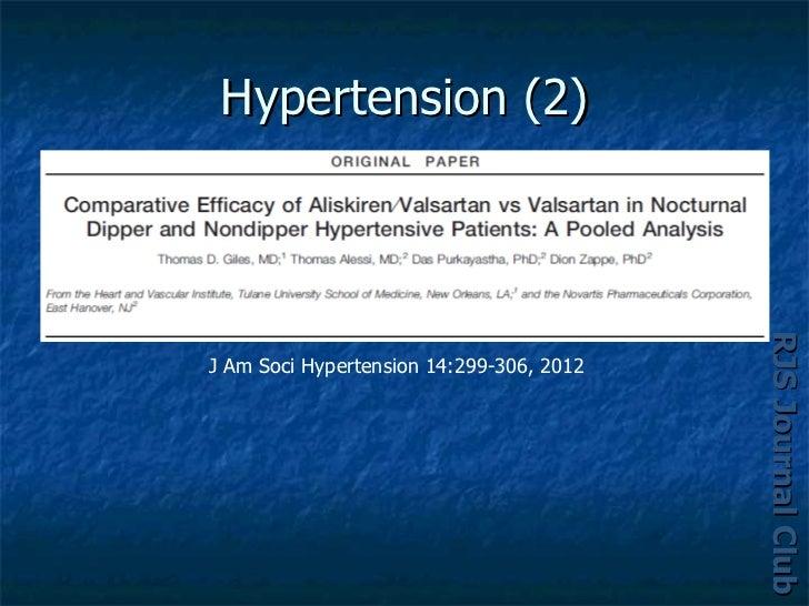 Hypertension (2)                                          RJS Journal Club                                          RJS Jo...
